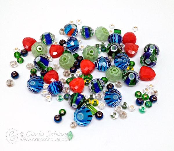 Beads in Memory Wire Bracelet tutorial from Carla Schauer Designs