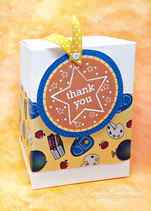 Free teacher appreciation gift wrap and tag printables. | Carla Schauer Designs