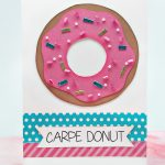 Donut-themed Thank You Card