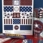 Free Patriotic Sparkler Holder Printables