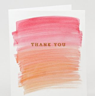 So pretty! Customize wedding thank you notes with watercolors. |Carla Schauer Designs