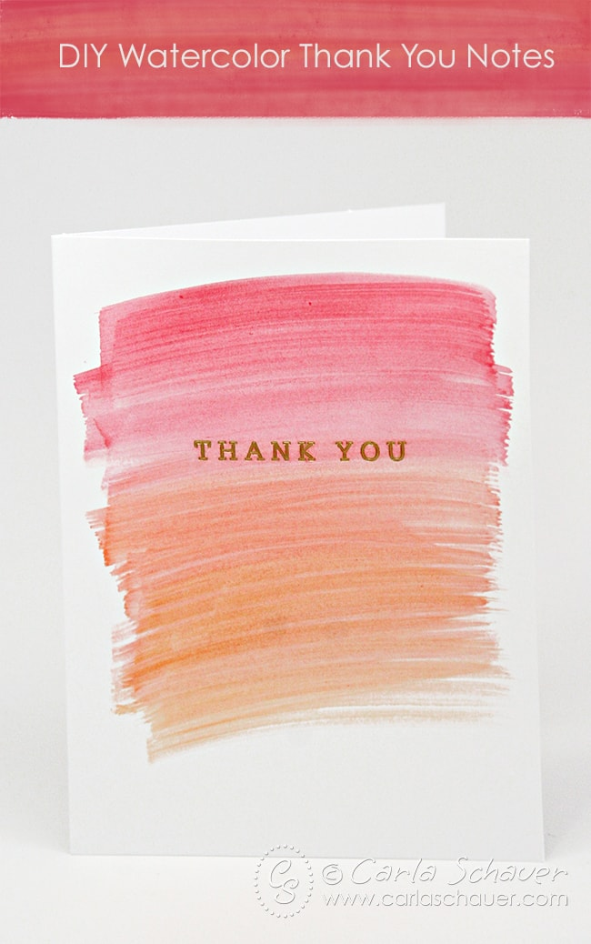 Watercolored, customized wedding thank you notes.