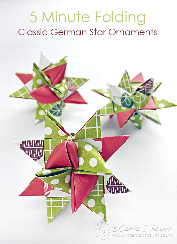 How to Make German Star Ornaments for Christmas | Carla Schauer Designs