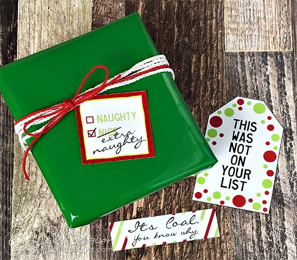 Free Snarky Printable Christmas Gift Tags. Hilarious! --From Carla Schauer Designs