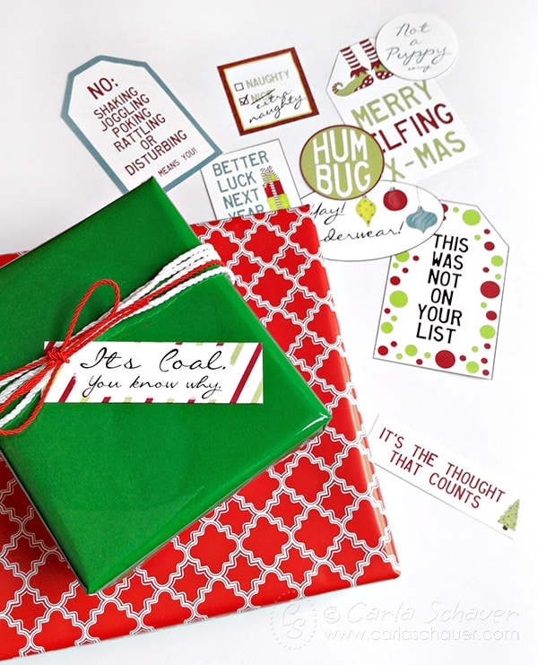 Make the holidays more fun with snarky Christmas gift tags! Carla Schauer Designs on Etsy.