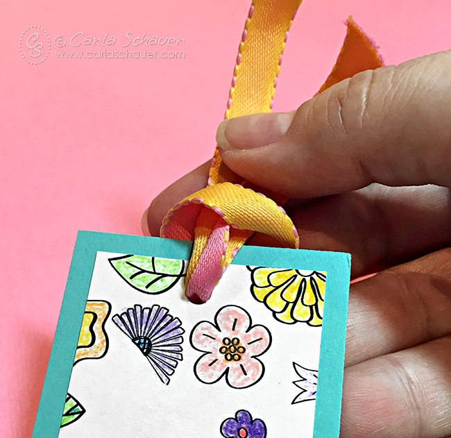 Make other projects from coloring pages instead of letting them sit in the book. Cute bookmark project from carlaschauer.com