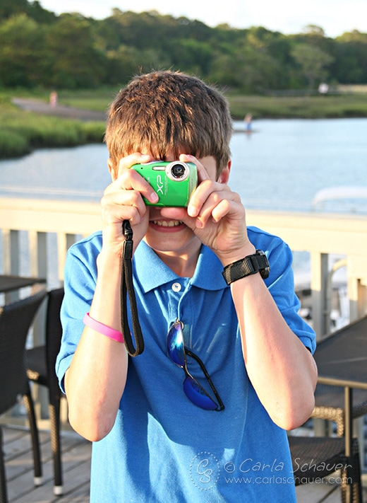 Tweens love to take photos, and are at a great age to have their own cameras. Great tween travel tips at Carla Schauer Designs