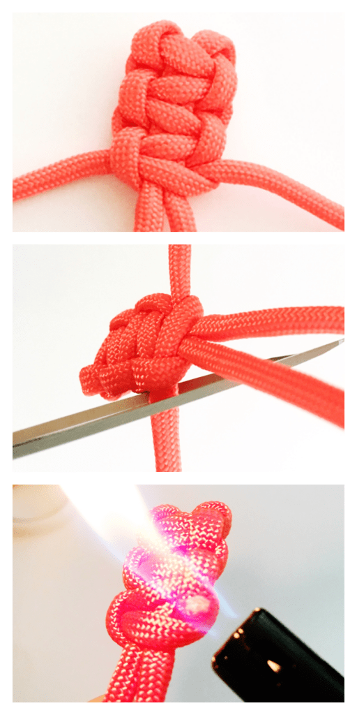 Quick and easy knotted Paracord zipper pulls. These would be perfect for backpacks! Tutorial at carlaschauer.com.