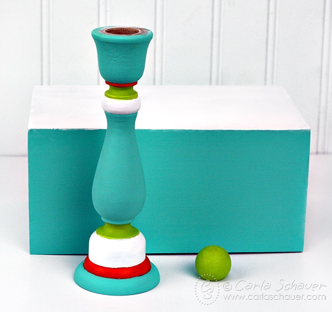 Make a painted display stand to feature interchangable printable inspiration. Tutorial and free printables from carlaschauer.com