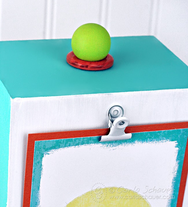 Make a display stand to feature interchangable printable inspiration. Tutorial and free printables from carlaschauer.com