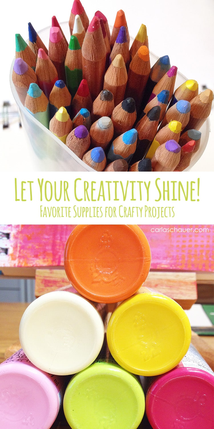 My favorite craft supplies for creative projects. Carla Schauer Designs