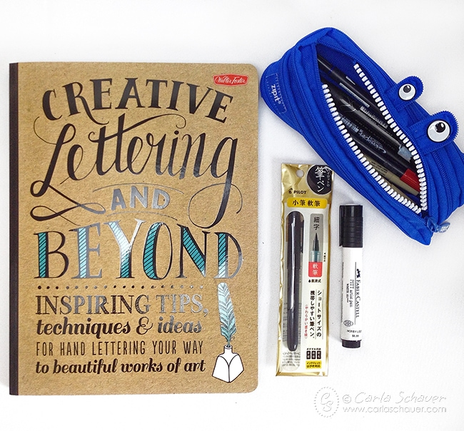 Great list of favorite supplies for coloring and beginning hand lettering. | carlaschauer.com
