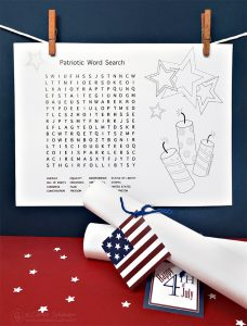 Printable Patriotic Word Search