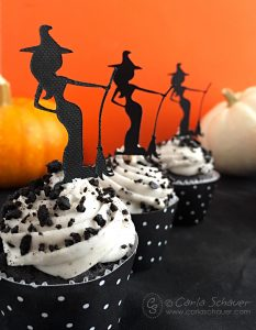 Halloween Witch Cupcake Toppers