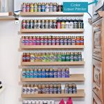 Acrylic Paint Storage Using Spice Racks