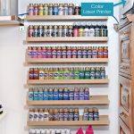 Acrylic Paint Storage Using Spice Racks
