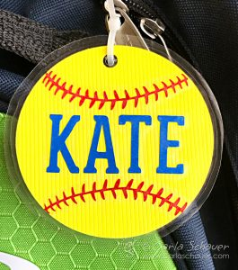 DIY softbal bag tag from Carla Schauer Studio