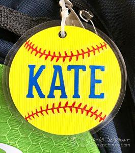 Softball Craft: Make a Softball Bag Tag