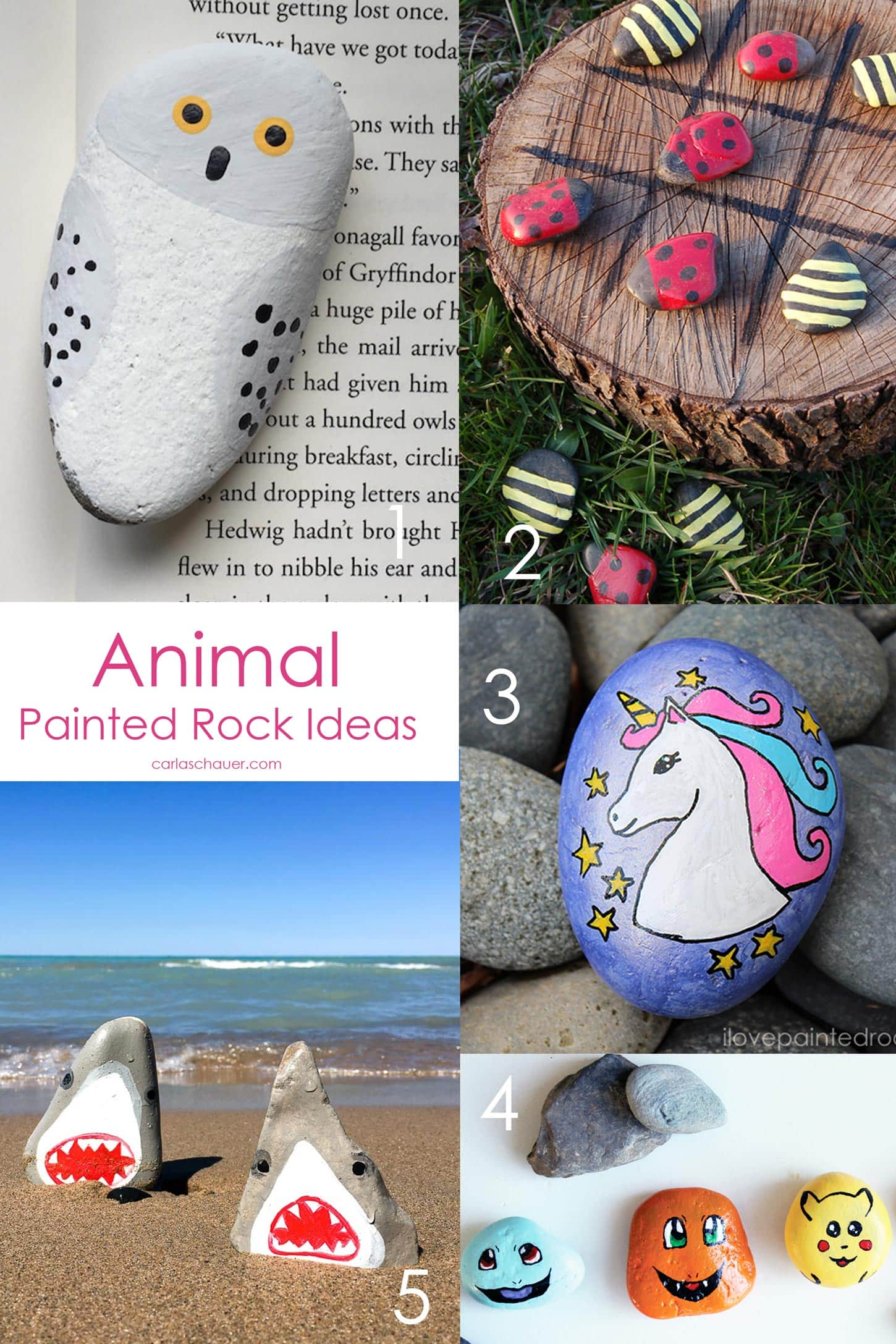 Animal Painted Rock Ideas - 20+ Easy Painting Ideas For