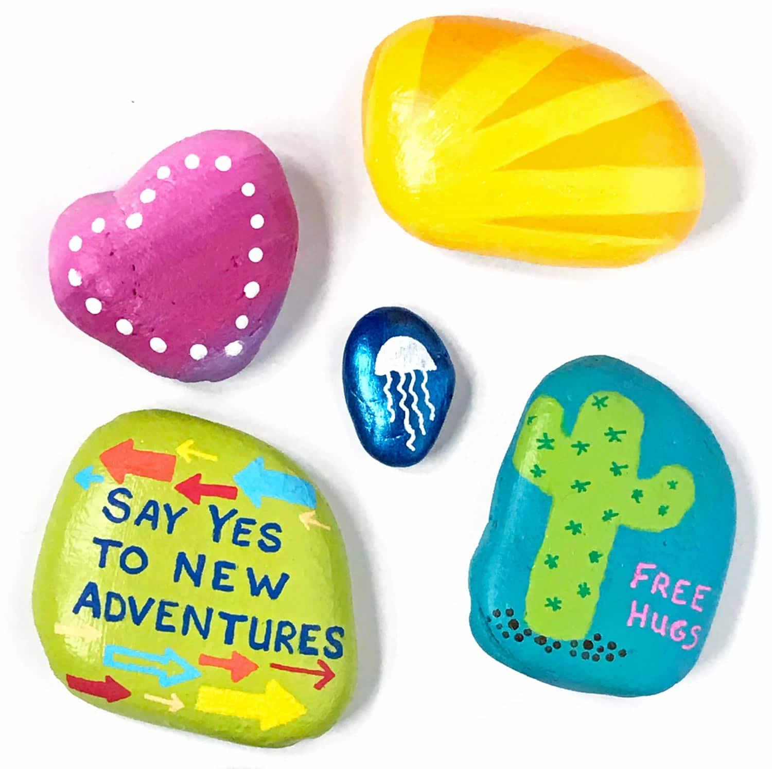 1a39df6825cd Easy Painted Rock Ideas from Carla Schauer Designs. See