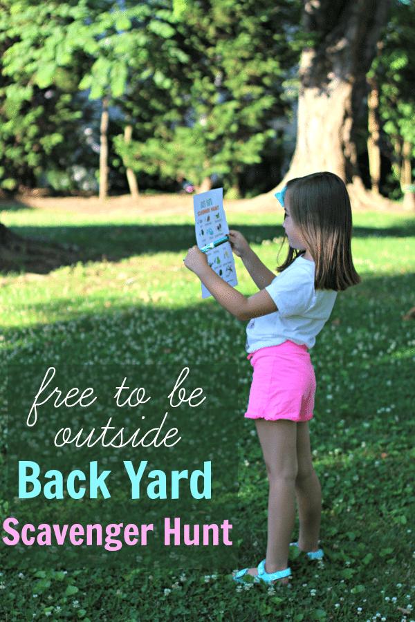 Back Yard Scavenger Hunt [+ Free Printable!]