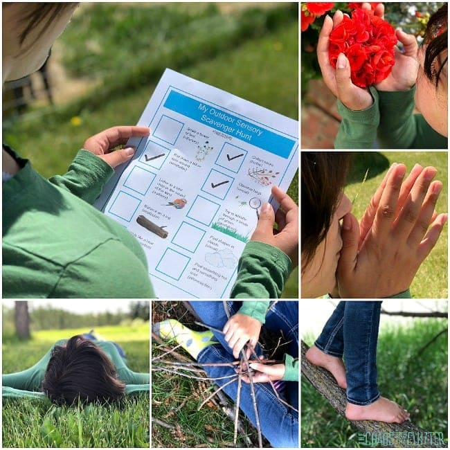 Outdoor Sensory Scavenger Hunt for Kids