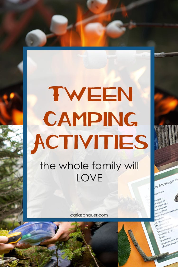 Collage of camping photos with text overlay for pinning.