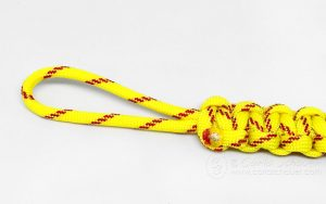How to Make a Softball Keychain from Paracord