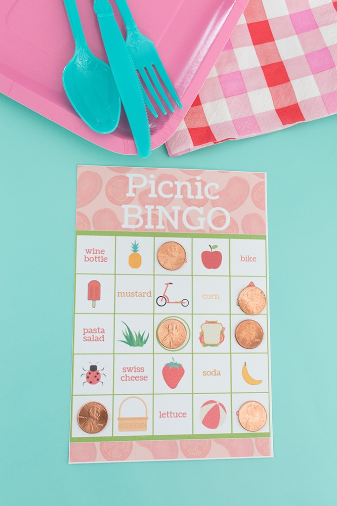 Picnic Bingo Cards- With Free Printable!