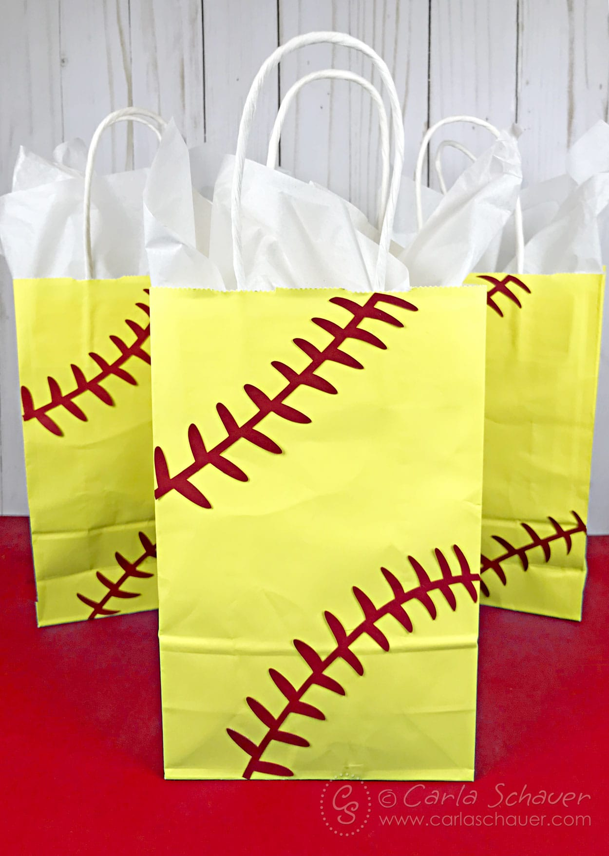 3 softball gift bags
