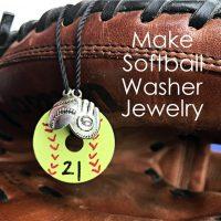 DIY Softball Necklace