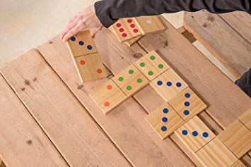 Outdoor Large-Format Wood Domino Set