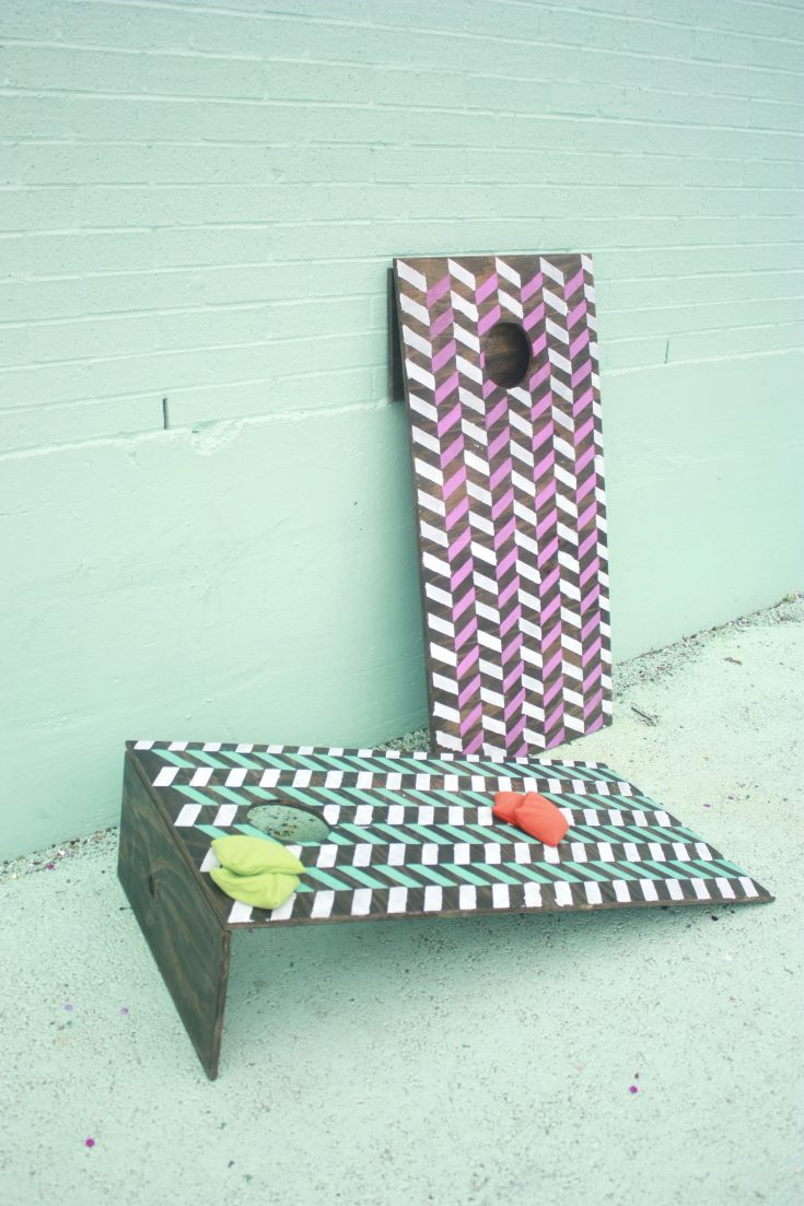 DIY Cornhole Boards - Tutorial to make your own!