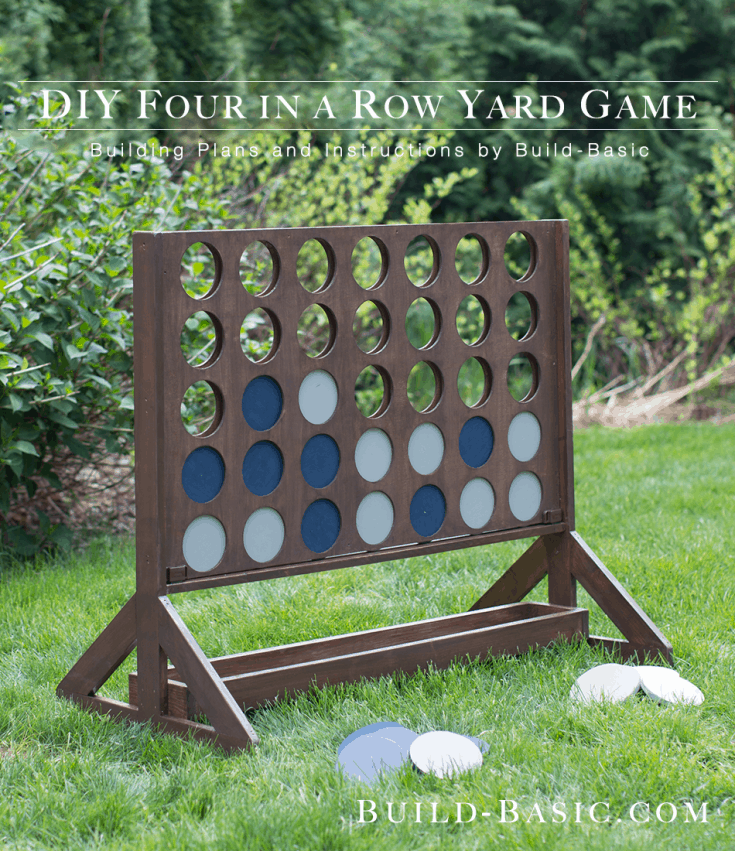 Build a DIY Four-in-a-Row Yard Game