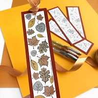 Fall Leaf Printable Coloring Bookmarks