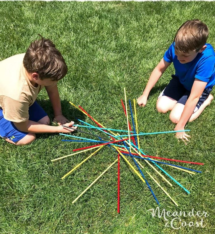Make a Pick Up Sticks Giant Outdoor Game