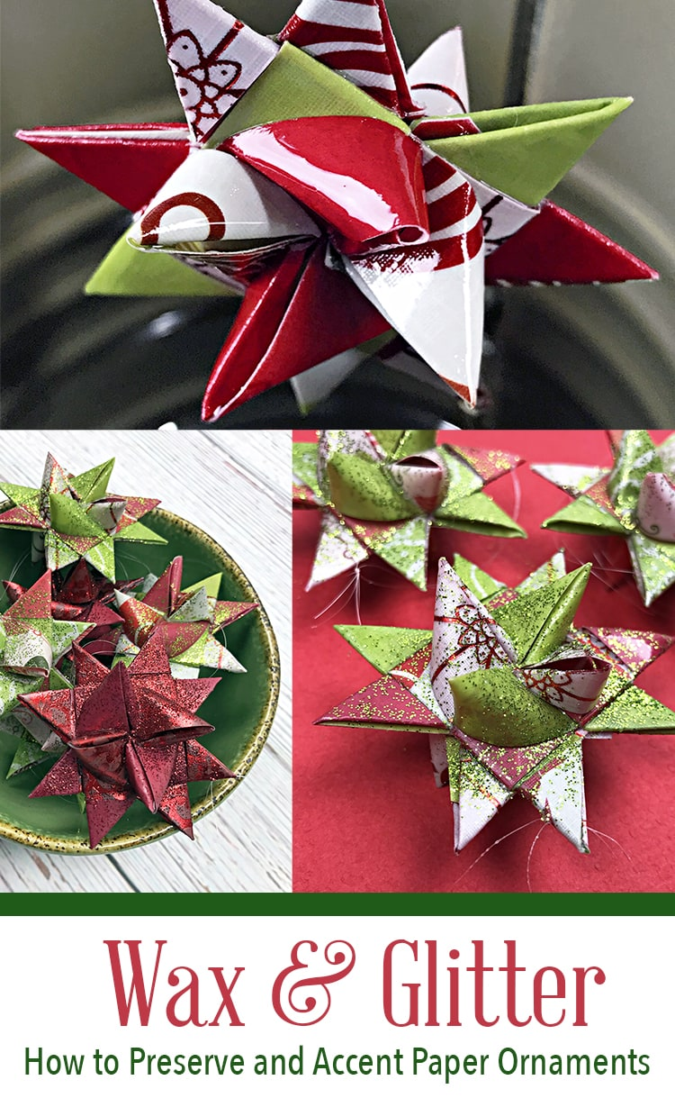 photo collage of German star ornaments with text for pinterest