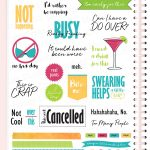 Snarky Digital Planner Stickers