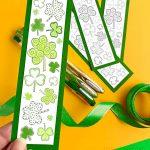Printable Shamrock Bookmarks