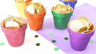 Mini Glitter Rainbow Pots