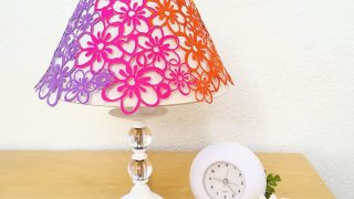DIY Paper Lace Rainbow Flower Lampshade