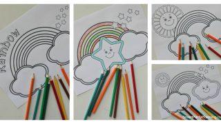 Free Rainbow Coloring Sheets