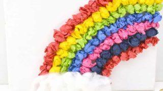 Rainbow Canvas Tissue Paper Craft for Kids