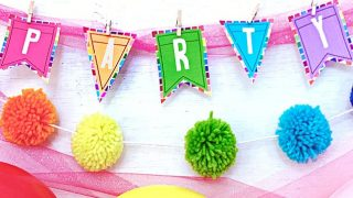 Easy DIY Party Banner Made with Cricut