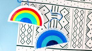 Easy DIY Rainbow Ornament Tutorial and Cut File