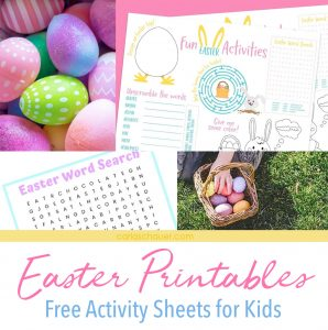 Easter Printables-collage of photos with text description