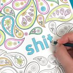 Sweary Cuss Word Coloring Page for Adults