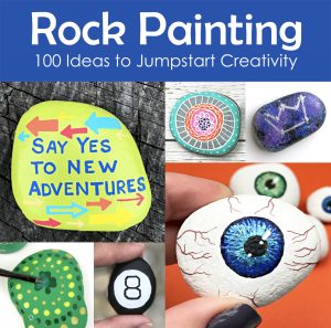 100 things to paint on rocks photo collage