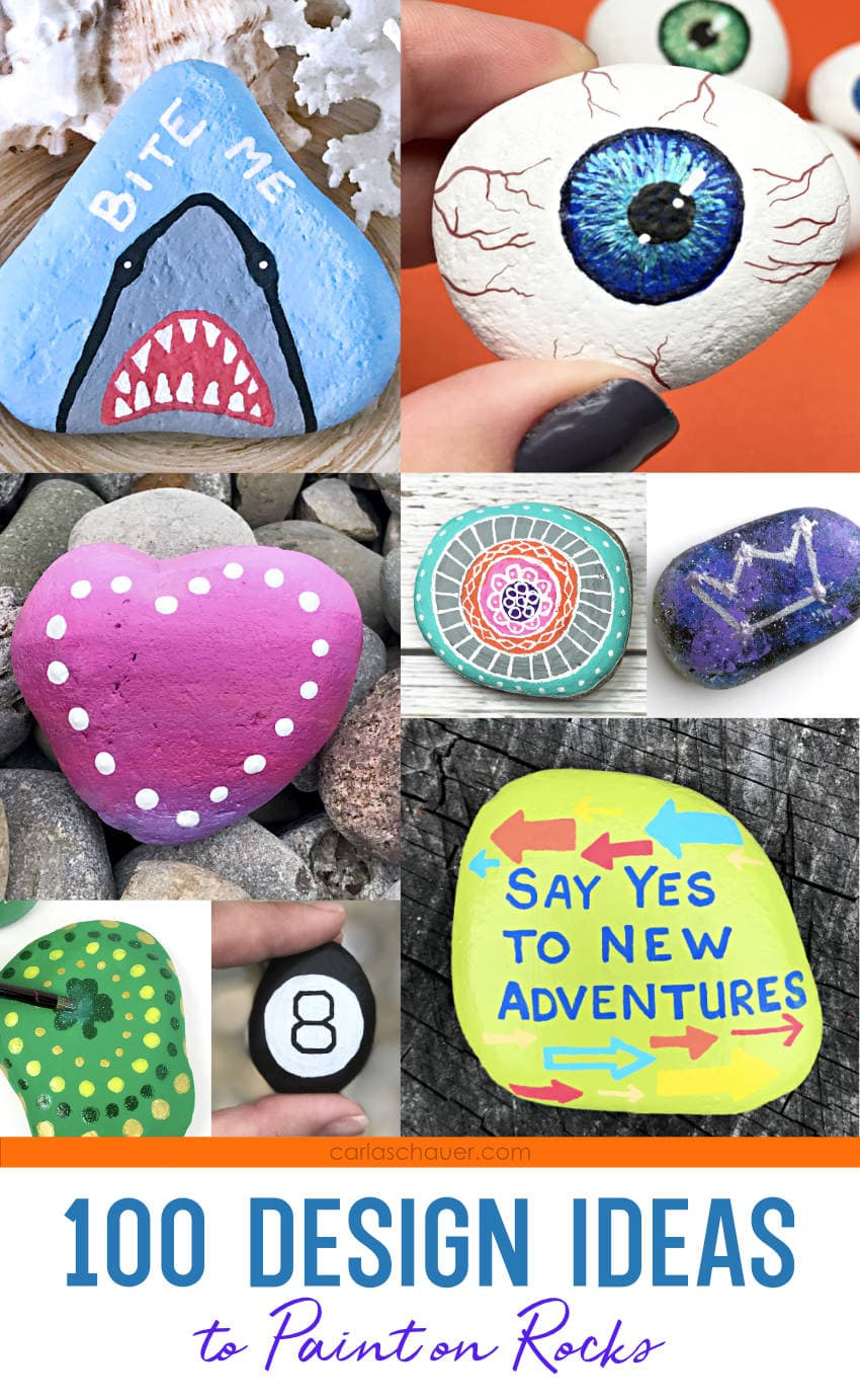 Painted Rock photo collage, with text overlay