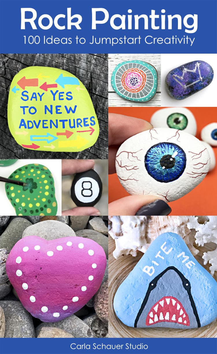 Painted Rock Ideas photo collage with descriptive text